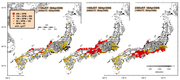 Suspended Particulate Matter (SPM) concentrations in Japan